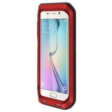 Samsung Galaxy S6 Edge Love Mei Powerful Hybrid Suojakuori Punainen