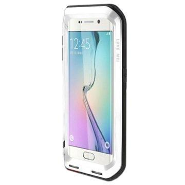Samsung Galaxy S6 Edge Love Mei Powerful Hybrid Suojakuori Valkoinen