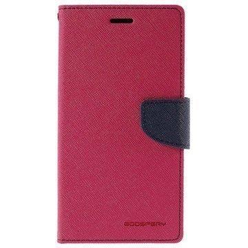 Samsung Galaxy S6 Edge+ Mercury Goospery Fancy Diary Lompakkokotelo Kuuma Pinkki