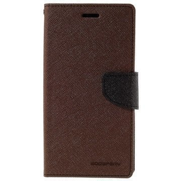Samsung Galaxy S6 Edge+ Mercury Goospery Fancy Diary Lompakkokotelo Ruskea