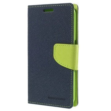 Samsung Galaxy S6 Edge Mercury Goospery Fancy Diary Lompakkokotelo Sininen / Vihreä