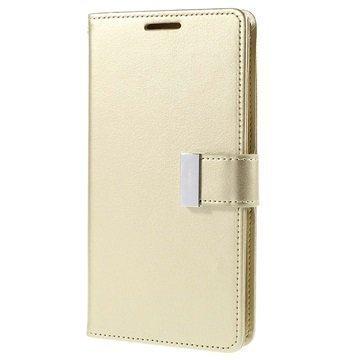 Samsung Galaxy S6 Edge+ Mercury Goospery Rich Diary Lompakkokotelo Samppanja