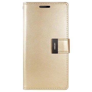 "Samsung Galaxy S6 Edge Mercury Goospery Rich Diary lompakkokotelo â"" Kulta"