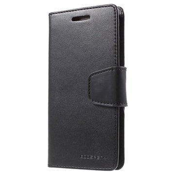 Samsung Galaxy S6 Edge Mercury Goospery Sonata Diary Lompakkokotelo Musta