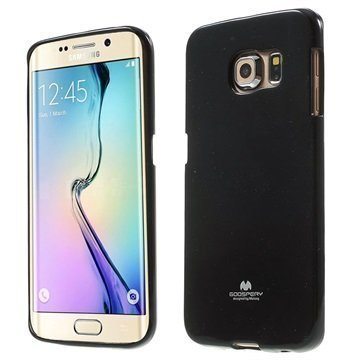 Samsung Galaxy S6 Edge Mercury Goospery TPU Kotelo Musta