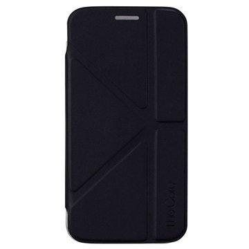 Samsung Galaxy S6 Edge Momax The Core Series Folio Suojakotelo Musta