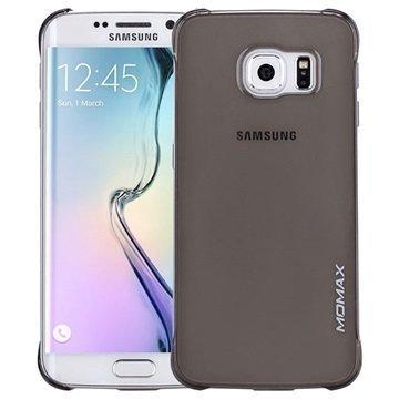 Samsung Galaxy S6 Edge Momax Ultra Thin Series Kova Kotelo Clear Breeze Musta
