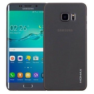 Samsung Galaxy S6 Edge+ Momax Ultra Thin TPU Suojakuori Läpinäkyvä / Musta