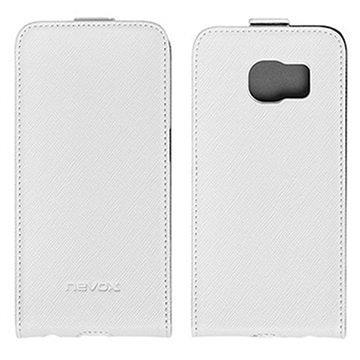 Samsung Galaxy S6 Edge Nevox Relino Läppäkotelo Valkoinen / Harmaa
