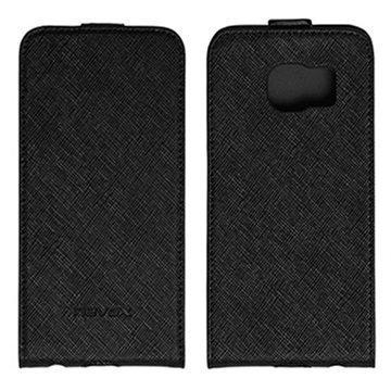 Samsung Galaxy S6 Edge Nevox Relino läppäkotelo Musta / Harmaa