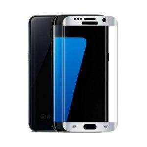 Samsung Galaxy S6 Edge Panssarilasi 3d Full Cover Valkoinen