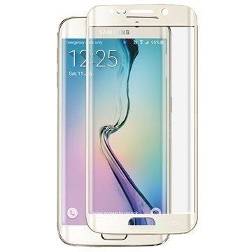 Samsung Galaxy S6 Edge+ Panzer Full-Fit Näytönsuoja Karkaistu Lasi Kulta
