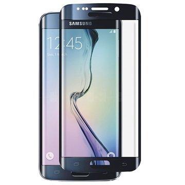 Samsung Galaxy S6 Edge Panzer Full-Fit Näytönsuoja Karkaistu Lasi Musta