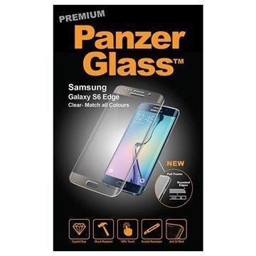 Samsung Galaxy S6 Edge PanzerGlass Laadukas Täyden Kehyksen Näytönsuoja Kirkas