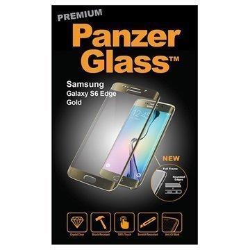Samsung Galaxy S6 Edge PanzerGlass Laadukas Täyden Kehyksen Näytönsuoja Kulta