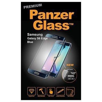 Samsung Galaxy S6 Edge PanzerGlass Laadukas Täyden Kehyksen Näytönsuoja Sininen