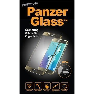 Samsung Galaxy S6 Edge+ PanzerGlass Premium Full Frame Screen Protector Gold