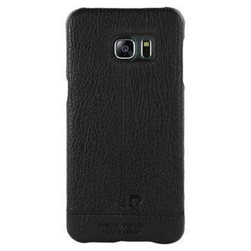 Samsung Galaxy S6 Edge Pierre Cardin Nahkapintainen Suojakuori Musta