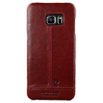 Samsung Galaxy S6 Edge Pierre Cardin Nahkapintainen Suojakuori Viininpunainen