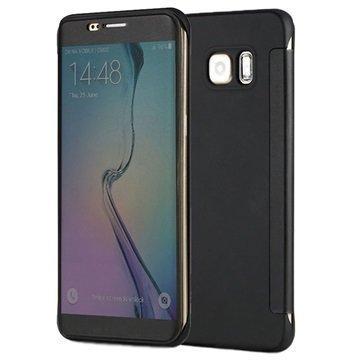 Samsung Galaxy S6 Edge+ Rock DR. V Series Läppäkotelo Musta