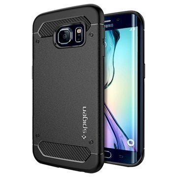 Samsung Galaxy S6 Edge Spigen Ultra Rugged Hybridikotelo Musta