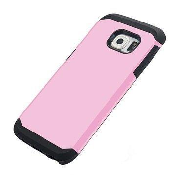 Samsung Galaxy S6 Edge Tuff-luv Armour Kova Suojakotelo Pinkki