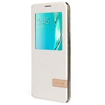 Samsung Galaxy S6 Edge+ Usams Muge Series Ikkunallinen Kotelo Valkoinen
