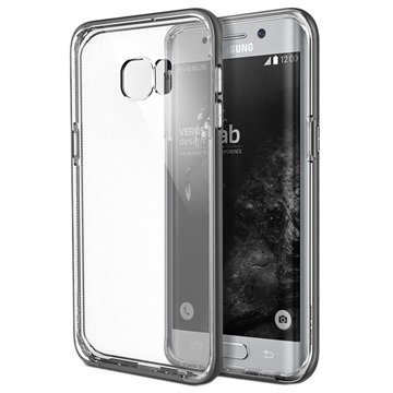 Samsung Galaxy S6 Edge+ VRS Design Crystal Bumper Series Kotelo Teräksisen Hopea