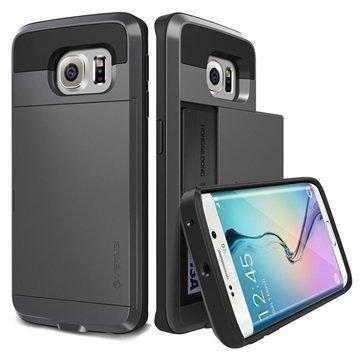 Samsung Galaxy S6 Edge Verus Damda Slide Kotelo Teräksisen Hopea