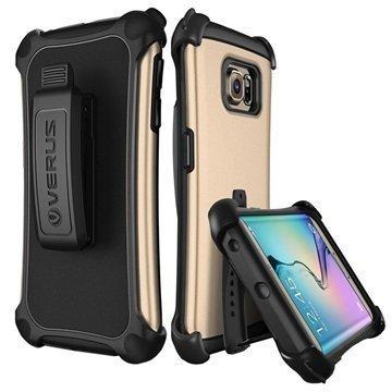 Samsung Galaxy S6 Edge Verus Thor Hard Drop Active Series Kotelo Hohtava Kulta