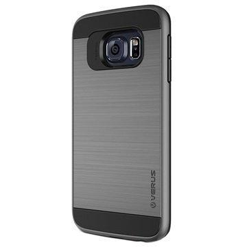 Samsung Galaxy S6 Edge Verus Verge Series Kotelo Teräksisen Hopea