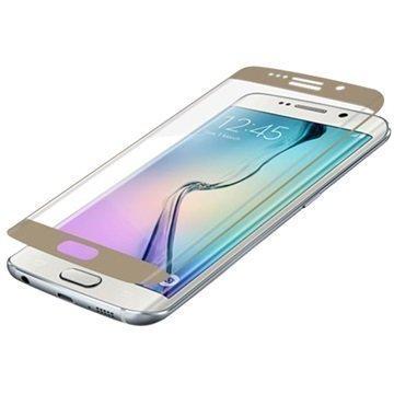 Samsung Galaxy S6 Edge Zagg InvisibleShield Glass Contour Näytönsuoja Kulta