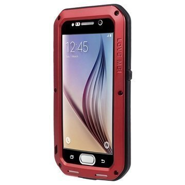 Samsung Galaxy S6 Love Mei Powerful Hybrid Suojakuori Punainen