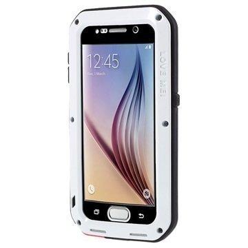 Samsung Galaxy S6 Love Mei Powerful Hybrid Suojakuori Valkoinen