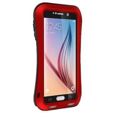 Samsung Galaxy S6 Love Mei Slim Waist Powerful Hybridikotelo Punainen