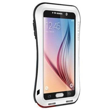 Samsung Galaxy S6 Love Mei Slim Waist Powerful Hybridikotelo Valkoinen