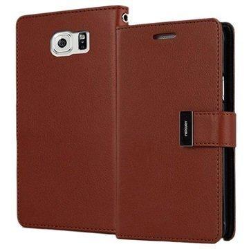 "Samsung Galaxy S6 Mercury Goospery Rich Diary lompakkokotelo â"" Ruskea"