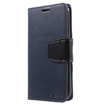 Samsung Galaxy S6 Mercury Newsets Lompakkokotelo Sininen