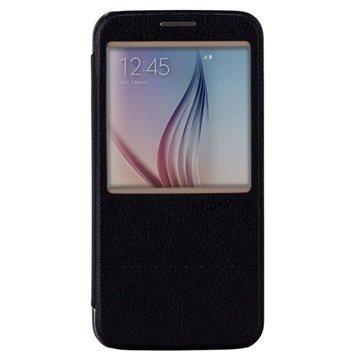 Samsung Galaxy S6 Momax Haute Couture Läppäkotelo Musta