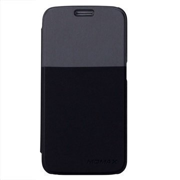 Samsung Galaxy S6 Momax Läppäkotelo Musta / Harmaa