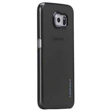 Samsung Galaxy S6 Momax Ultra Thin Series Kova Kotelo Clear Breeze Läpinäkyvä Musta
