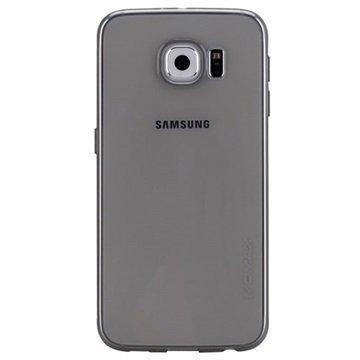 Samsung Galaxy S6 Momax Ultra Thin TPU Suojakuori Läpinäkyvä / Musta