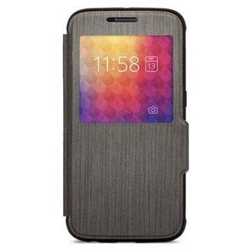 Samsung Galaxy S6 Moshi SenseCover Läppäkotelo Musta