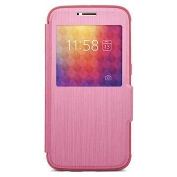 Samsung Galaxy S6 Moshi SenseCover Läppäkotelo Pinkki