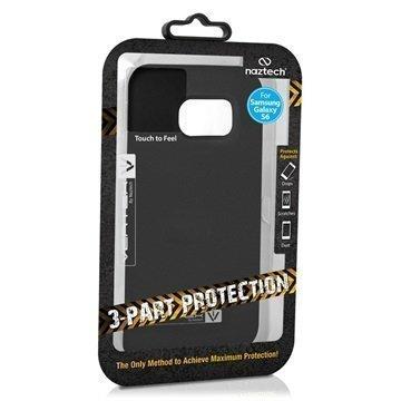 Samsung Galaxy S6 Naztech Vertex 3-kerroksinen Kotelo Musta / Musta