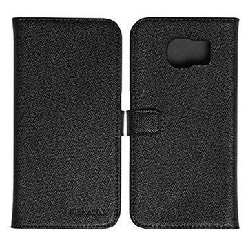 Samsung Galaxy S6 Nevox Ordo Folio Kotelo Musta / Harmaa