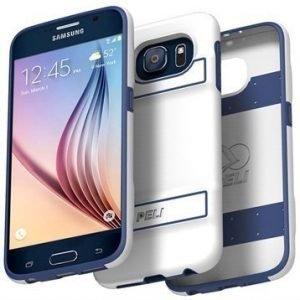 Samsung Galaxy S6 Peli Guardian Kovakotelo Valkoinen / Sininen