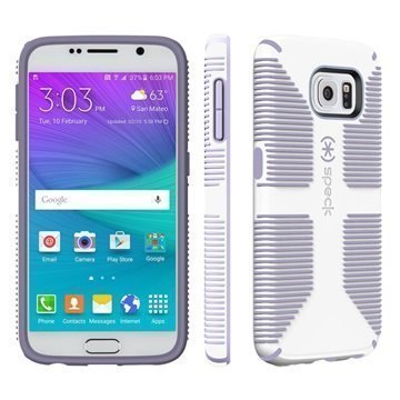 Samsung Galaxy S6 Speck CandyShell Grip Case White / Heather Purple
