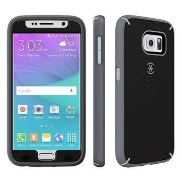 Samsung Galaxy S6 Speck MightyShell Faceplate Kotelo Musta / Liuskekivi Harmaa