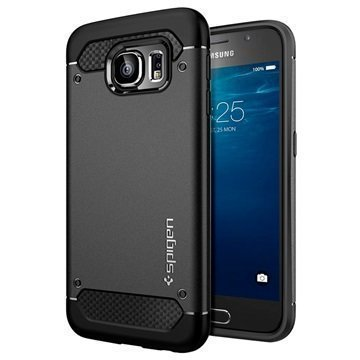 Samsung Galaxy S6 Spigen Ultra Rugged Kapselikotelo Musta